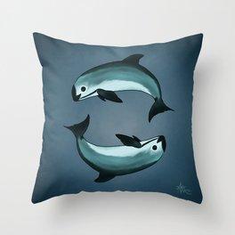 Spiraling ~ Vaquita Porpoise art by Amber Marine (Copyright 2015) Throw Pillow
