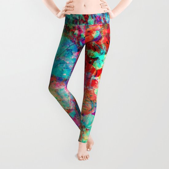 abstract orchid Leggings