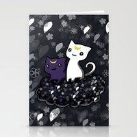 sailormoon Stationery Cards featuring Sailormoon Luna and Artemis by Mayying