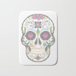 Create a Real Stitchery - Pixel Art - Day of the Dead, Cinco de Mayo, Calavera, Dia de los Muertos Bath Mat
