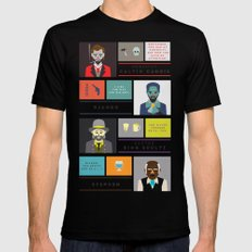 Django Unchained Character Poster Mens Fitted Tee MEDIUM Black