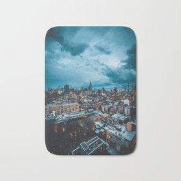 Moody skies over Manhattan Bath Mat