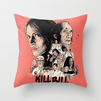 kill bill Throw Pillows featuring Kill Bill by RJ Artworks