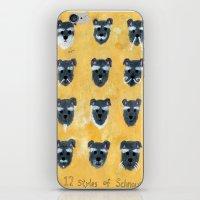 schnauzer iPhone & iPod Skins featuring Schnauzer by Sonia Ku