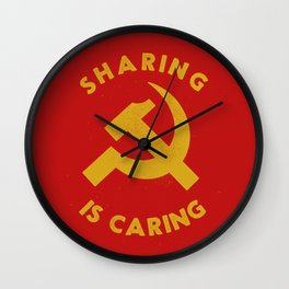 Sharing Is Caring Wall Clock