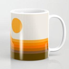 Golden Horizon Diptych - Left Side Kaffeebecher