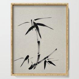 Bamboo Brush Ink Painting - Japanese Zen Art Serving Tray