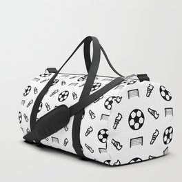 Football and Soccer Pattern Duffle Bag