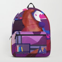 Reading Cat In Room Backpack