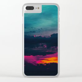 Cotton Candy Skies Clear iPhone Case