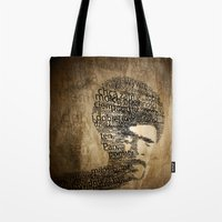 pulp fiction Tote Bags featuring pulp fiction by de4macja