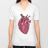 romance V-neck T-shirts featuring Romance by Adam McDade