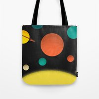 solar system Tote Bags featuring Solar system by Sarajea