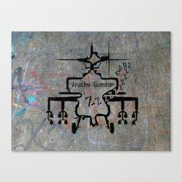 Apathy Gunship Canvas Print
