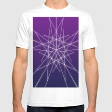 Line  MEDIUM White Mens Fitted Tee