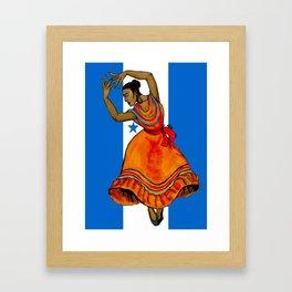 Tu Bandera Es Un Lampo De Cielo Framed Art Print