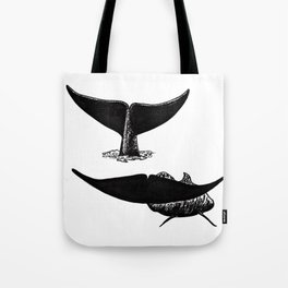 Whale flukes Tote Bag