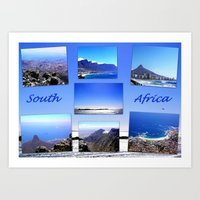 south africa Art Prints featuring South Africa Landscape by Art-Motiva