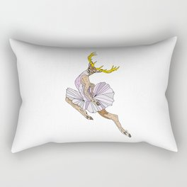 Reindeer Ballerina Tutu Rectangular Pillow