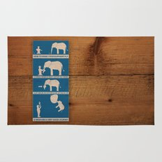 how to make your elephant fly Rug