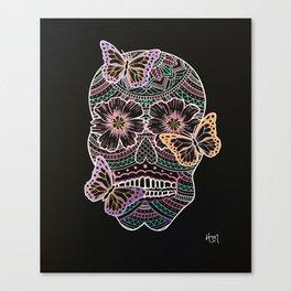 Butterfly Sugar Skull Canvas Print