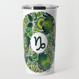 Capricorn in Petrykivka Style (with signature) Travel Mug