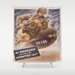 Vintage poster - U.S. Infantry Shower Curtain