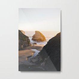Shark Fin Cove -  Davenport, CA Metal Print