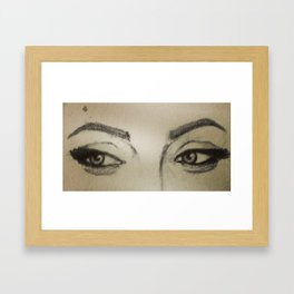 Through her eyes Framed Art Print