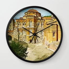 Hosios Loukas monastery Distomo Greece Wall Clock