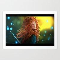 merida Art Prints featuring MERIDA by corverez