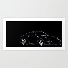 Porsche Carrera4s Art Print