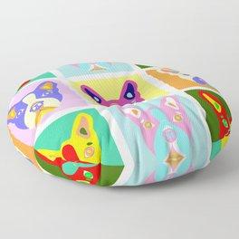 Boston Terrier Pop Art Floor Pillow