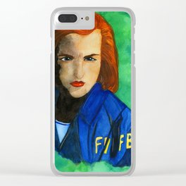 Agent Scully FBI Clear iPhone Case