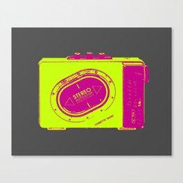 FAVOURITE90 - Walkman Yellow Canvas Print