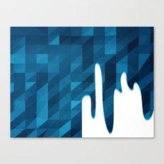 Polygon Drip Blue Canvas Print