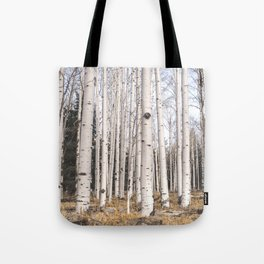 Trees of Reason - Birch Forest Tote Bag
