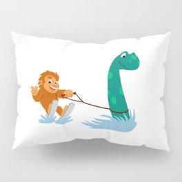 Bigfoot and  nessie Pillow Sham