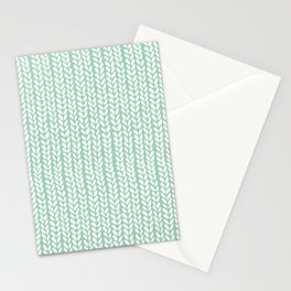 Knit Wave Mint Stationery Cards