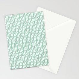 Knit Wave Mint Stationery Cards