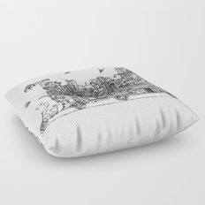 Busy City – On Your Bike Floor Pillow