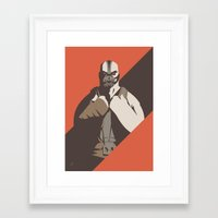bane Framed Art Prints featuring Bane by Florey