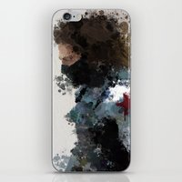water colour iPhone & iPod Skins featuring Winter Soldier Water Colour by Scofield Designs