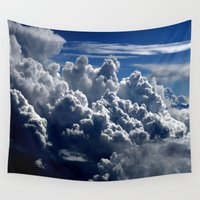 clouds Wall Tapestries featuring clouds by  Agostino Lo Coco
