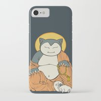 snorlax iPhone & iPod Cases featuring Hotei Snorlax by Mallory Hodgkin