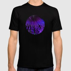 Blue feather MEDIUM Black Mens Fitted Tee