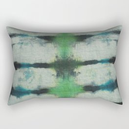 Tie Dye in Blue and Green 3 Rectangular Pillow