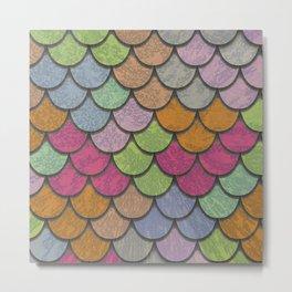 Scales Multicolor Metal Print