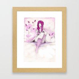 Girl In Pink Framed Art Print
