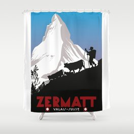Zermatt,Valais,Suisse Shower Curtain